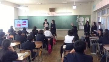 能勢高生による授業(ユネスコクラブ)