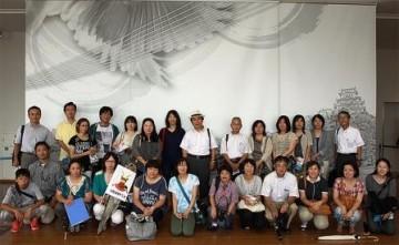 姫路城での記念写真