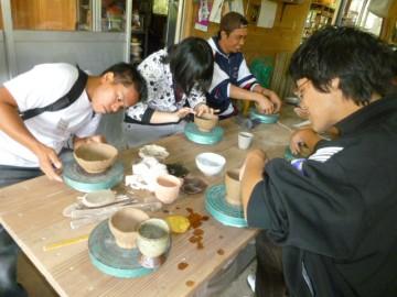 外国人の方の陶芸体験(風気庵にて)