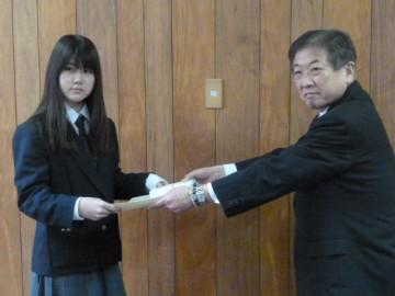 豊能税務署長からの表彰状授与