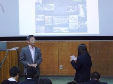 生徒代表からのお礼のあいさつ