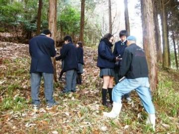 演習林での樹木調査
