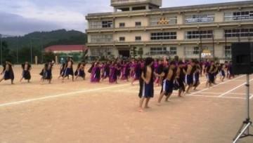生徒全員による南中ソーラン