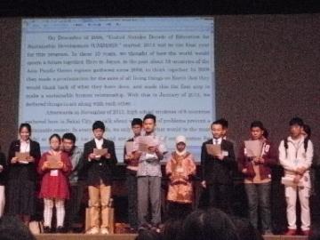 8カ国の代表高校生による共同宣言発表