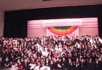8カ国の高校生による記念撮影
