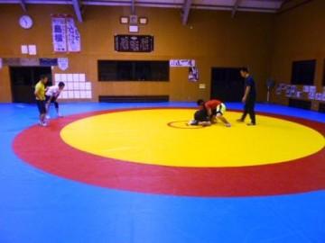 専用の練習場のあるレスリング部