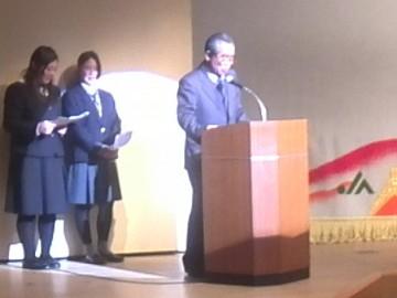 熱いあいさつをされた西田彦次会長