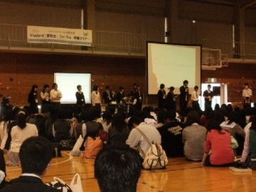 第1回準備セミナーの様子(岡山大学体育館)