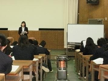 神田正惠さんによるキャリア学習講座の様子