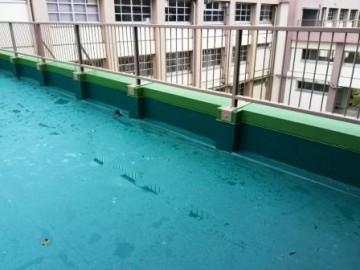 本館と北館の渡り廊下屋上の防水改修