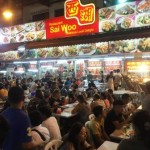 Dinner at a street stall