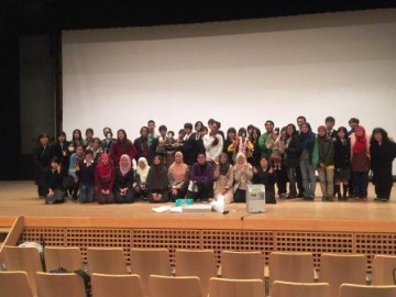 Group photo at Joruri theater