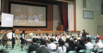 能勢中学校吹奏楽部の演奏
